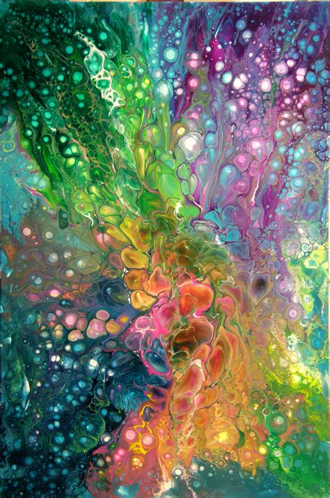 how to pour acrylic paint on canvas acrylic pouring btw check out some cool here http