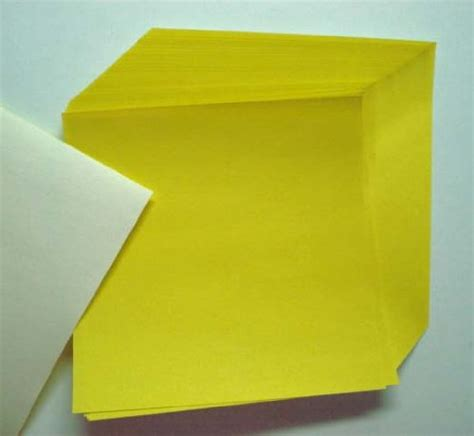 sheet origami paper yellow origami paper 50 sheets n8288