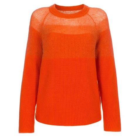 sweaters for womens paul smith s orange merino wool sweater with mohair
