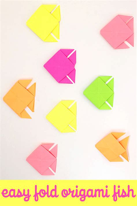 easy origami fish origami fish easy folding childhood101