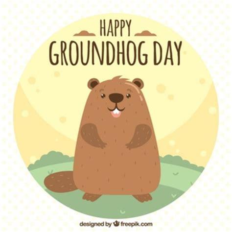 groundhog day day one lyrics groundhog with glasses illustration vector free
