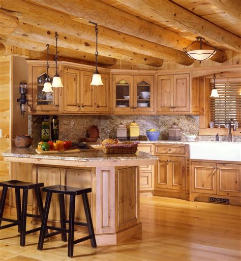 cabin kitchen designs log cabin kitchens with modern and rustic style