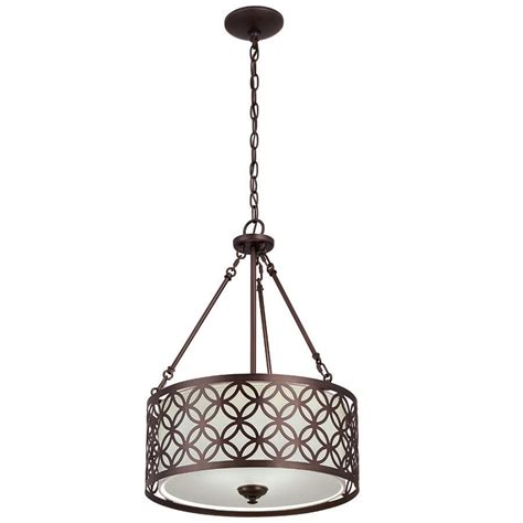 allen and roth pendant lighting allen roth earling 18 in w rubbed bronze pendant