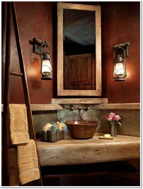 rustic country home decorating ideas 40 exceptional rustic bathroom designs filled with