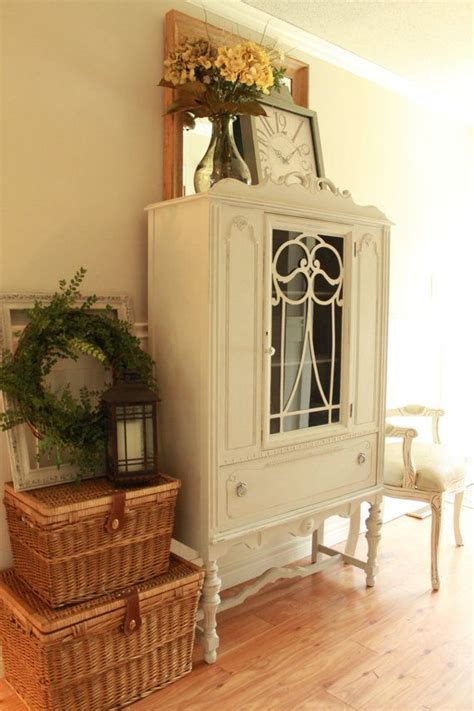17 best ideas about china cabinet painted on