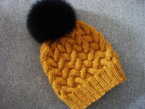 knit cable hat pattern winter cable hat allfreeknitting