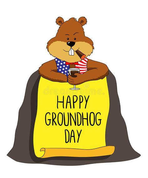 groundhog day duration groundhog happy groundhog day stock vector image 64313124