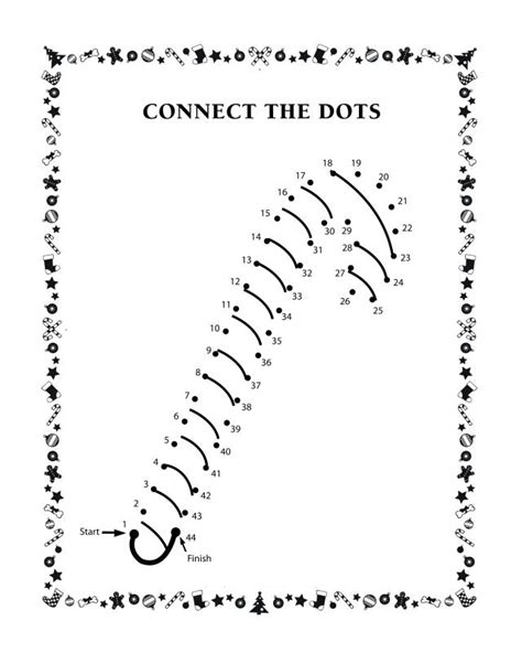 connect the dots candy cane free printable coloring pages