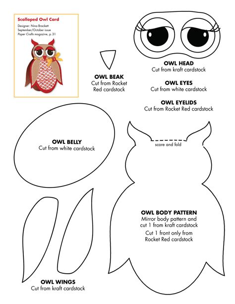 crafts for free 5 best images of owl printable craft patterns printable