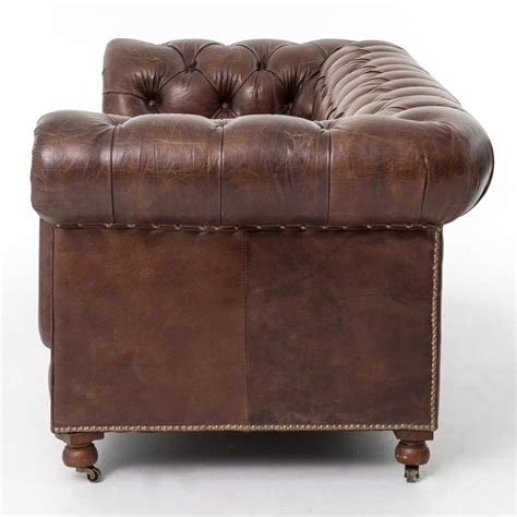 tufted brown leather sofa club chesterfield tufted brown leather sofa 96w kathy