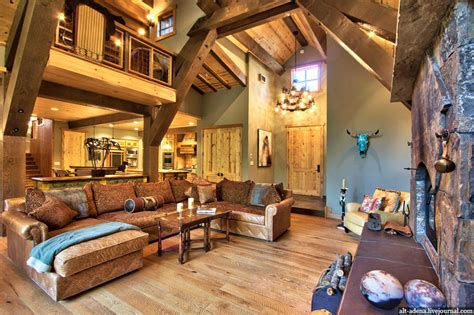 interior design mountain homes mountain style home decorated in rustic style