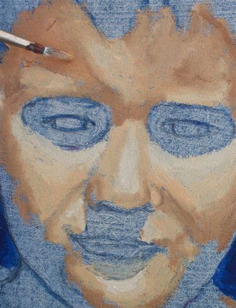 acrylic paint how to make skin color portrait painting of a boy part 1 blue acrylic