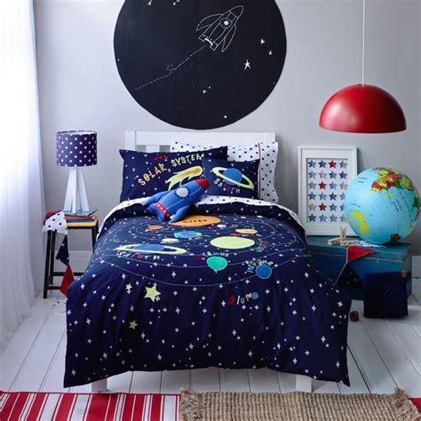 solar system bedding set boys solar system linen set contemporary