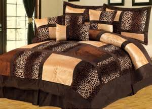 leopard print king comforter set bag animal print leopard fur comforter set king