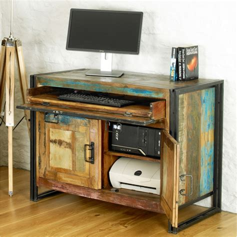 hideaway desks home office chic solid reclaimed wood office furniture hideaway