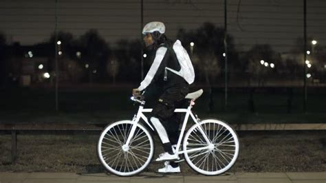 glow in the paint volvo spray on paint gives bicyclists a special glow cult