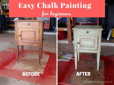 chalk paint easy easy chalk painting for beginners plum prairie ranch