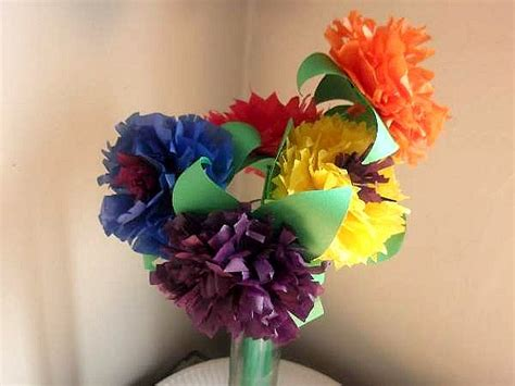 paper craft for flowers how to make tissue paper flower crafts for