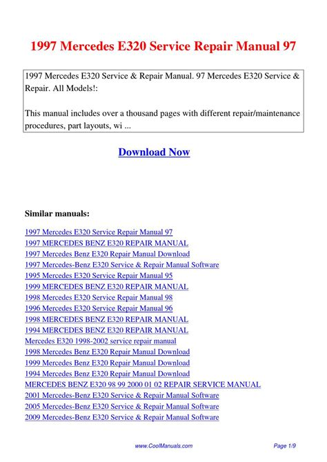 service manual service manual for a 1999 mercedes benz slk class mercedes slk 1998 2004 1997 mercedes e320 service repair manual 97 pdf by linda pong issuu