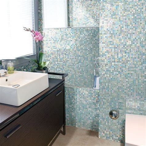 mosaic tile designs bathroom 40 blue glass mosaic bathroom tiles tile ideas and pictures