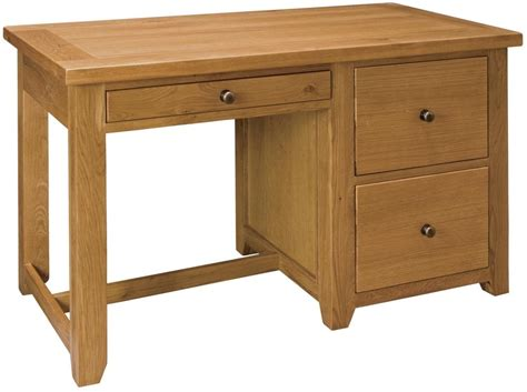 oak desk buy michigan oak office desk 3 drawers cfs uk