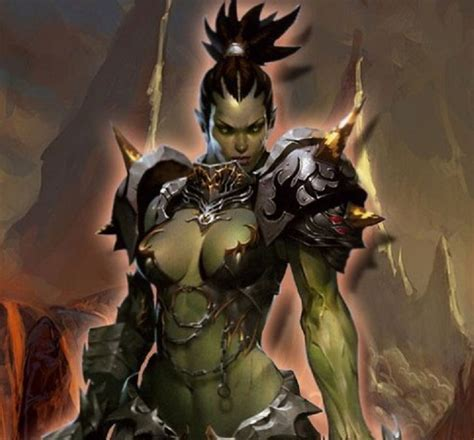 18 best female orcs and half orcs / weibliche Orks und