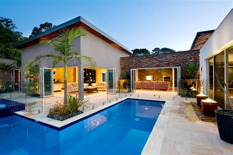 mediterranean house plans with pool noosa villa by design unity mediterranean pool