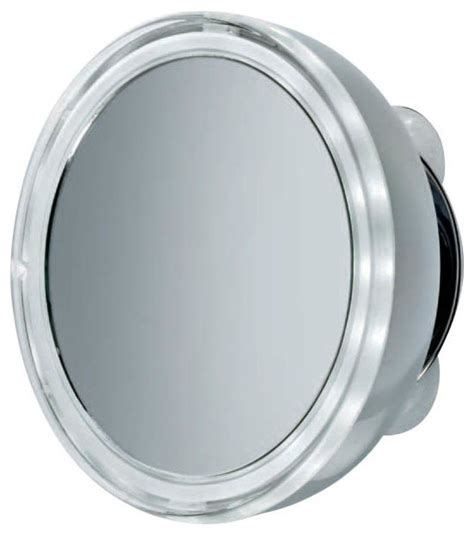 suction mirror bathroom smile illuminated magnifying mirror 3x with suction cup