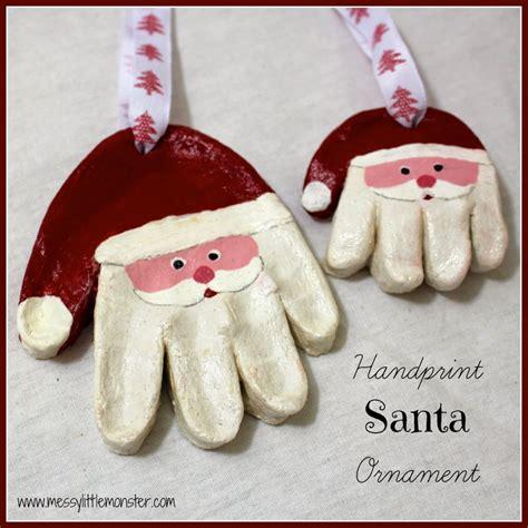salt dough crafts for salt dough ornaments santa handprints crafts