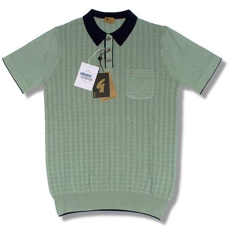 knit polo shirt gabicci vintage mod retro 60 s s s square knit polo shirt