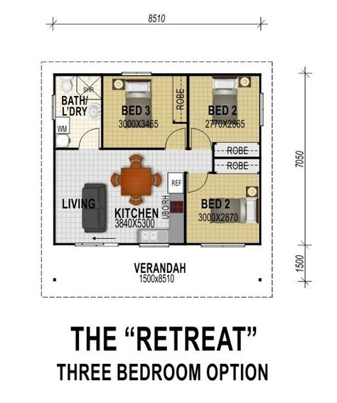 Granny Flats Floor Plans the retreat three bedroom option all granny flats
