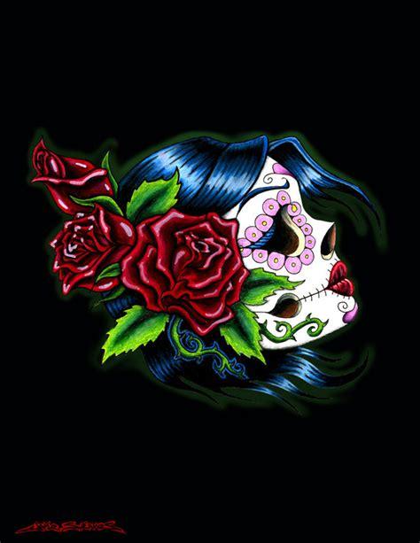 female sugar skull by muddygreen on deviantart