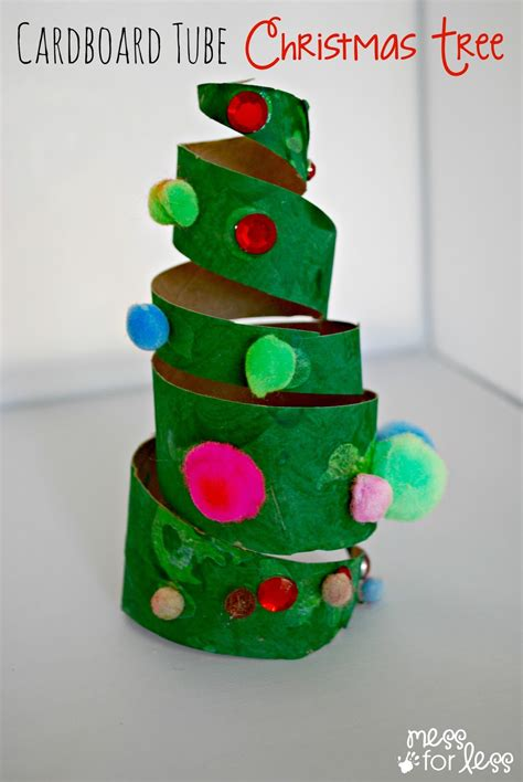 kid craft ornaments crafts for cardboard tree