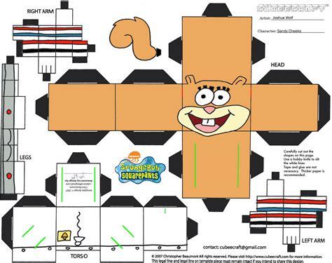 3d printable paper crafts 8 best images of spongebob 3d cut out printable paper