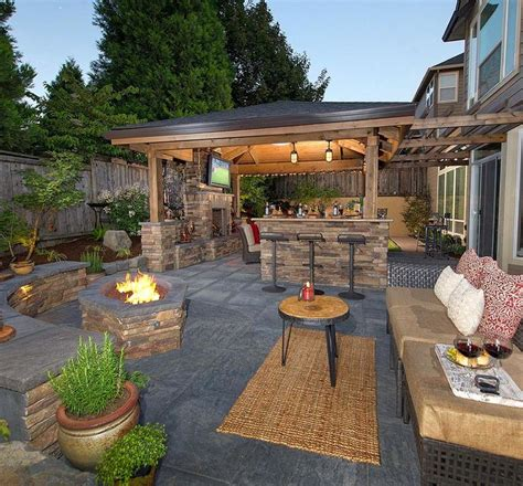backyard covered patio designs best 20 covered outdoor kitchens ideas on
