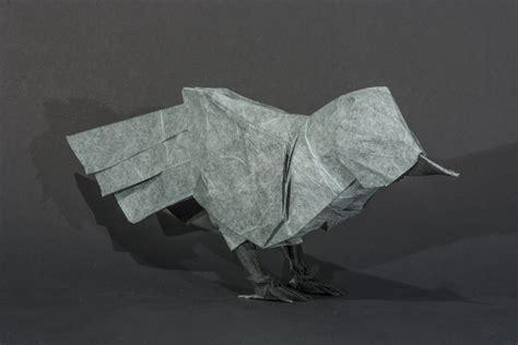 Origami Mulberry Unryu Mockingbird By Kamiwasa On Deviantart