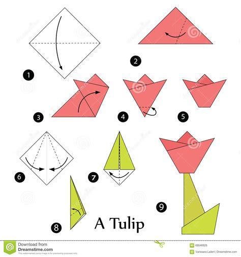 tulip origami step by step tulip origami comot