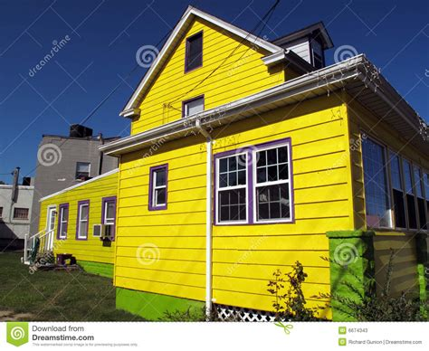 bright homes bright yellow house stock image image of maryland