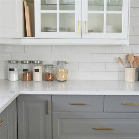 pictures of subway tile backsplashes in kitchen installing a subway tile backsplash in our kitchen the sweetest digs