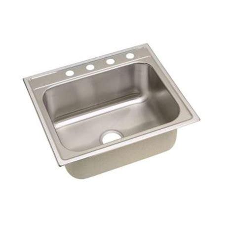 homedepot kitchen sinks elkay signature top mount stainless steel 25 in 4