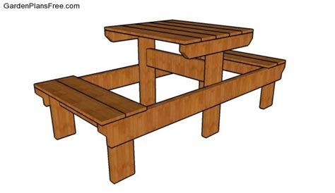 free picnic table plans small picnic table plans free garden plans how to