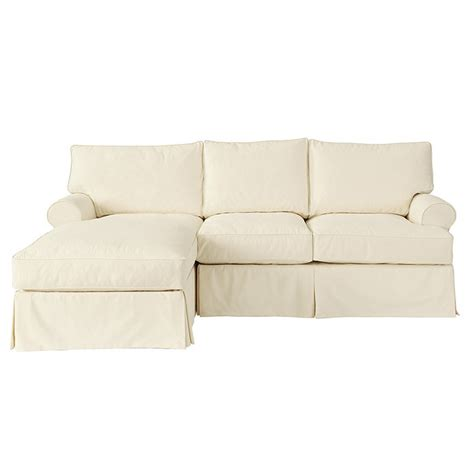 sofa with chaise slipcover davenport 2 sectional with left arm chaise slipcover