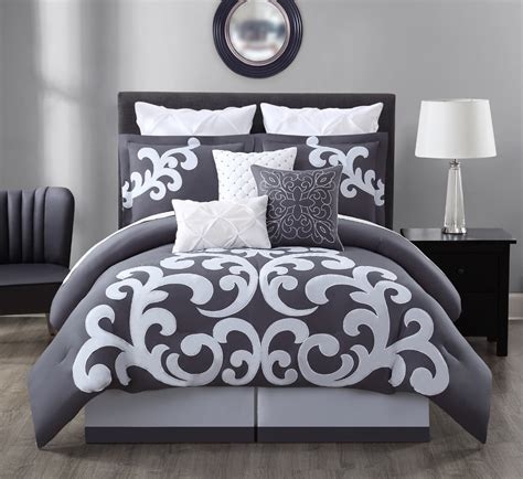white bedroom comforter sets best 28 gray and white comforter sets gray comforter