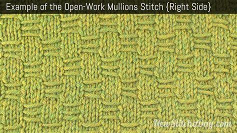rs knitting openwork mullions stitch knitting stitch new stitch