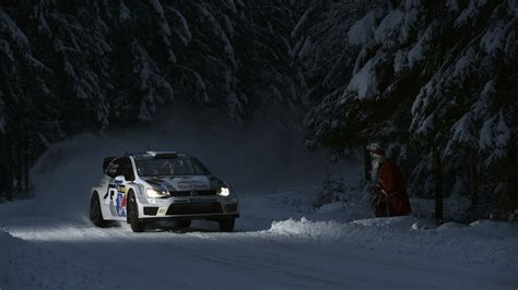 Car Wallpaper Snow by Snow Trees Santa Claus Racing Rally Cars