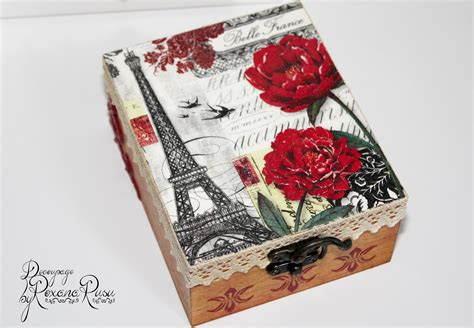 boxes for decoupage vintage le tour eiffel decoupage box decoupage