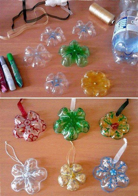 how to make ornaments out of diy make ornament out of water bottles