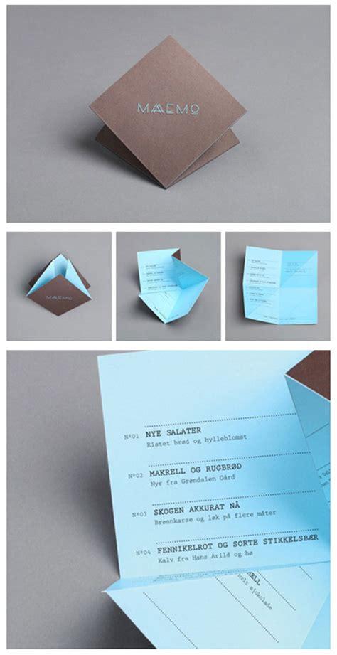origami restaurant menu 45 remarkable food drink menu designs web graphic