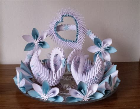 Wedding Swan Plate 1 By Akvees On Etsy Orgami