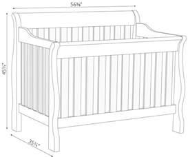 dimensions of a baby crib sleigh crib dimensions amish traditions wv